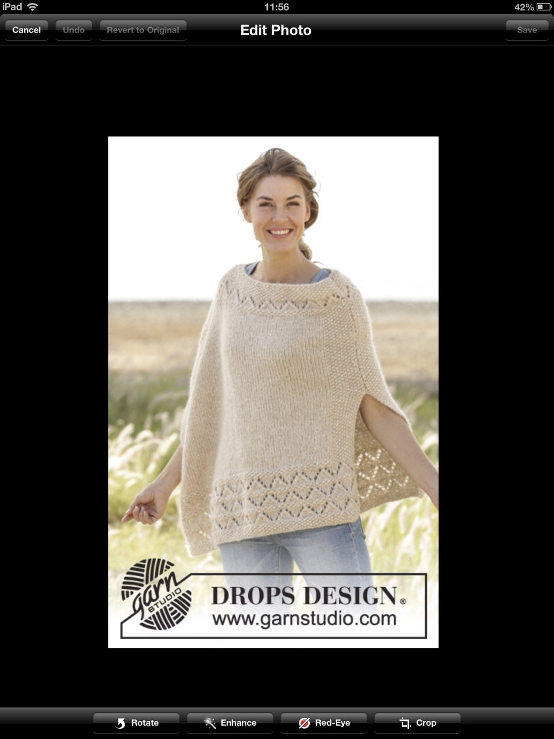 Handmade hand knit poncho sweater / cape / wrap in warm and soft ...