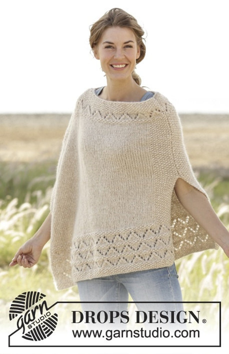 3a2b218e204 Handmade hand knit poncho sweater   cape   wrap in warm and