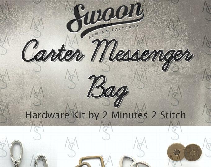 Carter Messenger Bag - Swoon Patterns - Carter Hardware Kit - Swoon Hardware - Bag Hardware - 2 Minutes 2 Stitch