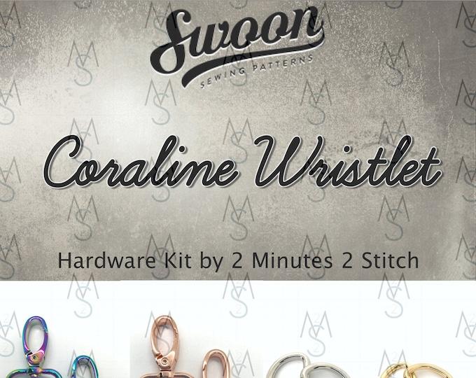 Coraline Wristlet - Swoon Patterns - Swoon Hardware Kit - Coraline Hardware - Bag Hardware Kit - 2 Minutes 2 Stitch