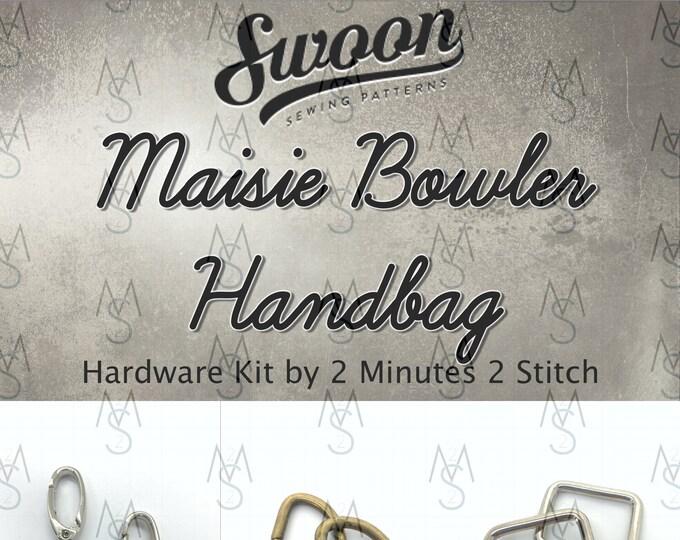 Maisie Bowler Handbag - Swoon Patterns - Swoon Hardware Kit - Maisie Hardware - Bag Hardware Kit - by 2 Minutes 2 Stitch