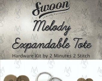 Melody Expandable Tote - Swoon Patterns - Swoon Hardware Kit - Melody Hardware - Bag Hardware Kit - by 2 Minutes 2 Stitch
