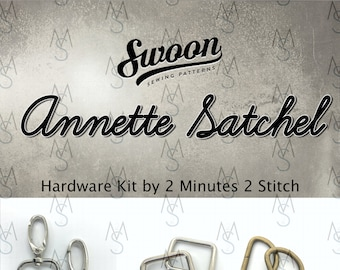 Annette Satchel - Swoon Patterns - Annette Hardware Kit - Swoon Hardware Kit - Bag Making Hardware Kit - 2 Minutes 2 Stitch