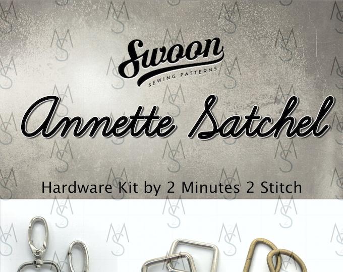 Annette Satchel - Swoon Patterns - Annette Hardware Kit - Swoon Hardware Kit - Bag Making Hardware Kit - 2 Minutes 2 Stitch