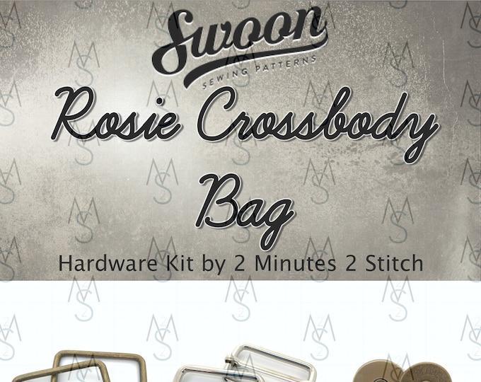 Rosie Crossbody Bag - Swoon Patterns - Swoon Hardware Kit - Rosie Hardware - Bag Hardware Kit - by 2 Minutes 2 Stitch