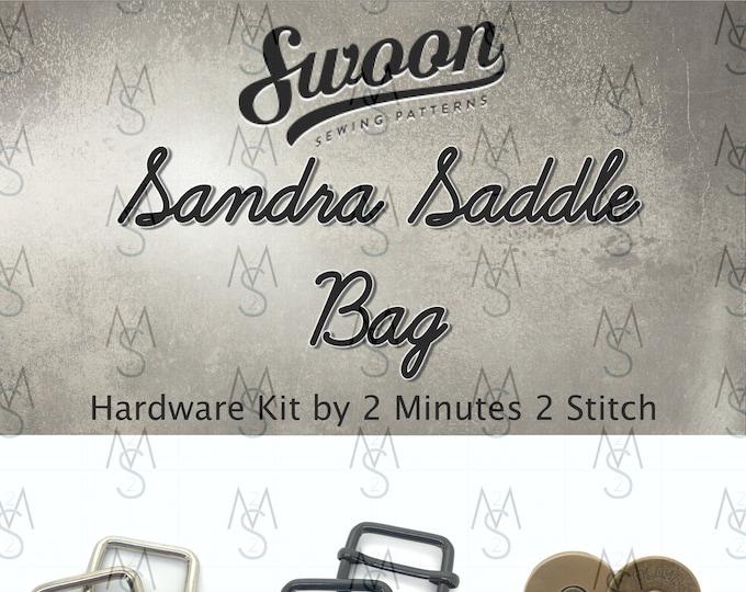 Sandra Saddle Bag - Swoon Patterns - Swoon Hardware Kit - Sandra Hardware - Bag Hardware Kit - by 2 Minutes 2 Stitch