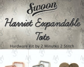 Harriet Expandable Tote - Swoon Patterns - Swoon Hardware Kit - Harriet Hardware - Bag Hardware Kit - 2 Minutes 2 Stitch