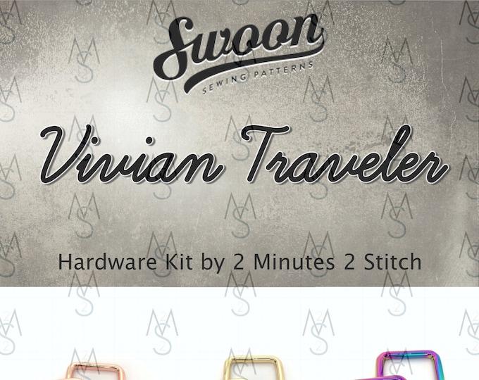 Vivian Traveler - Swoon Patterns - Swoon Hardware Kit - Vivian Hardware - Bag Hardware Kit - by 2 Minutes 2 Stitch