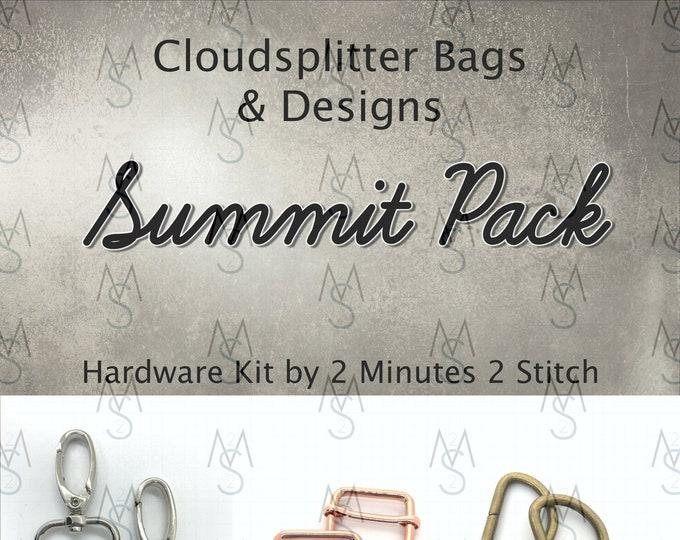 Summit Pack - Cloudsplitter Designs - Bag Making Hardware Kit - 2 Minutes 2 Stitch - Bag Hardware - Bagpack Hardware - Rainbow Hardware