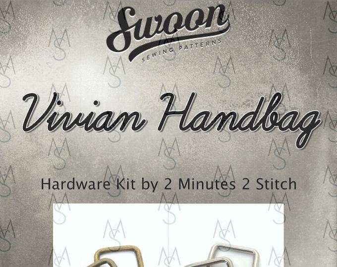Vivian Handbag - Swoon Patterns - Swoon Hardware Kit - Vivian Hardware - Bag Hardware Kit - by 2 Minutes 2 Stitch