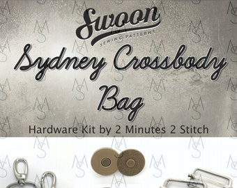 Sydney Crossbody Bag - Swoon Patterns - Swoon Hardware Kit - Sydney Hardware - Bag Hardware Kit - by 2 Minutes 2 Stitch