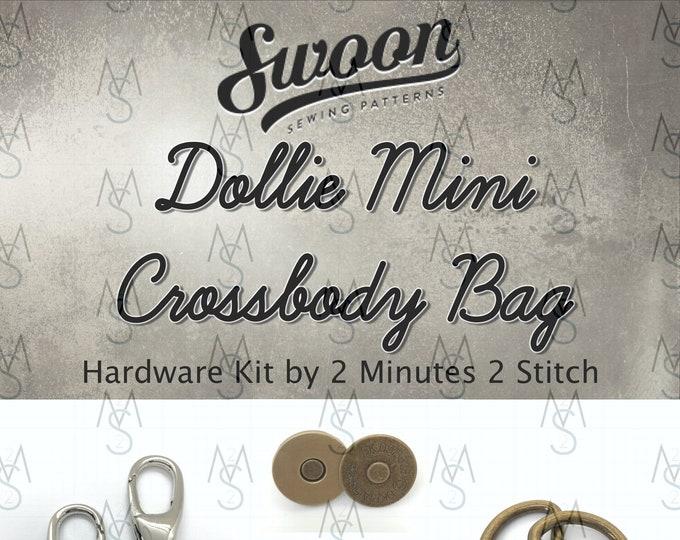Dollie Mini Crossbody - Swoon Patterns - Swoon Hardware Kit - Dollie Hardware - Bag Hardware Kit - 2 Minutes 2 Stitch
