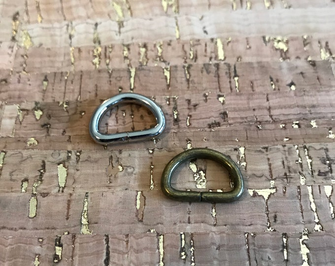 D-Ring - 1/2 Inch Wide - Dee Rings - Bag Hardware - 2 Minutes 2 Stitch