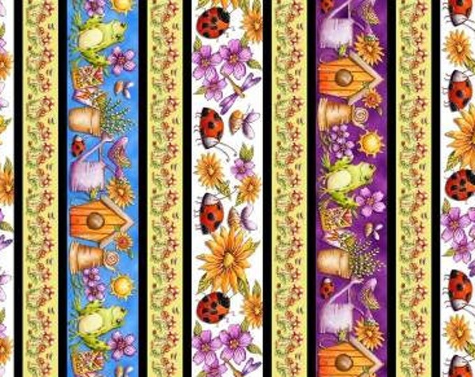 Garden Glory by Blank Quilting - Stripe It  - Cotton Woven Fabric