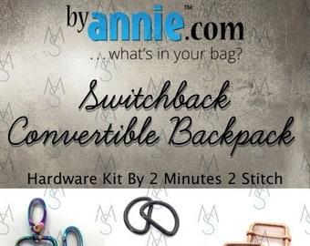 Switchback Convertible Backpack Shoulder Bag - ByAnnie - Hardware Kit by 2 Minutes 2 Stitch - Bag Hardware