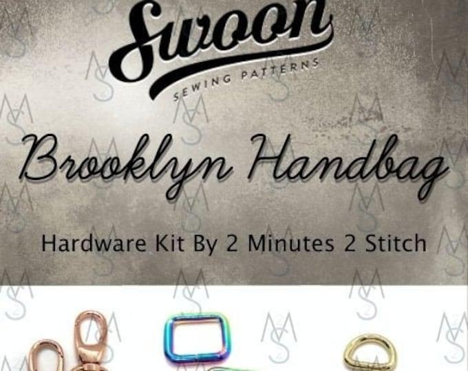 Brooklyn Handbag - Swoon Patterns - Swoon Hardware Kit - Bag Hardware - Brooklyn Hardware - 2 Minutes 2 Stitch