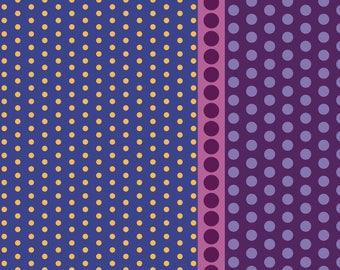 Dot Crazy by Benartex - Playground Purple - Cotton Woven Fabric - FAT QUARTER