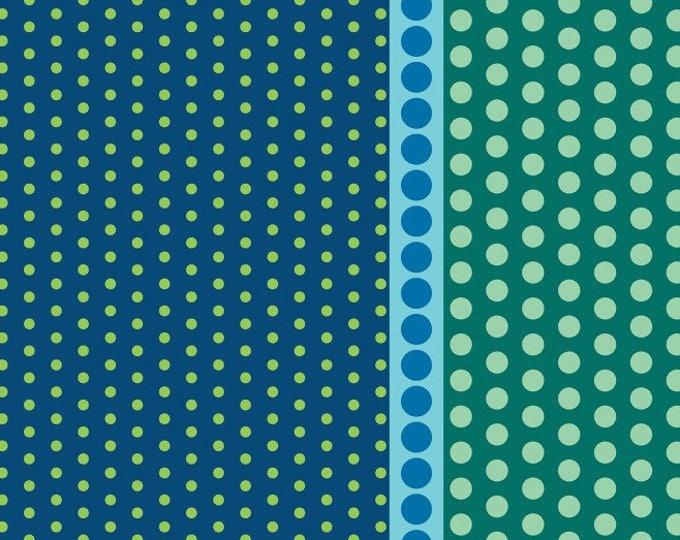 Dot Crazy by Benartex - Playground Teal - Cotton Woven Fabric - FAT QUARTER