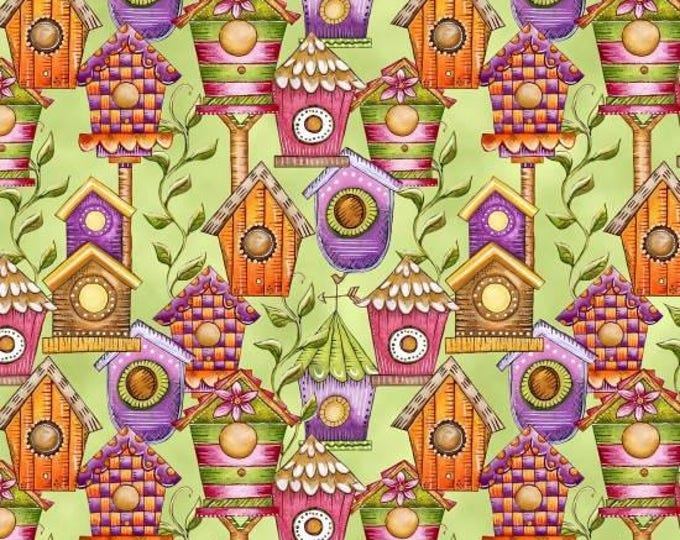 Garden Glory by Blank Quilting - Birdhouses - Cotton Woven Fabric