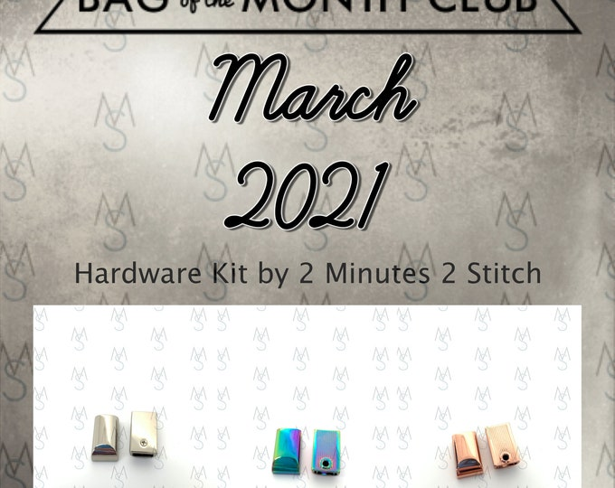 Bag of the Month Club - March 2021 Hardware Kit - Blue Calla Patterns