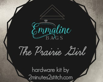 The Prairie Girl Bag - Emmaline Bags - Hardware Kit by 2 Minutes 2 Stitch