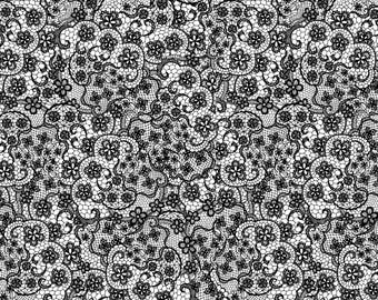 Flower Power by Patrick Lose - Lace Black - Cotton Woven Fabric