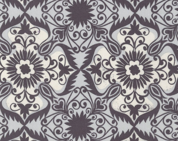 Jasmine by Valori Wells for Robert Kaufman - Charcoal Damask - Cotton Woven Fabric