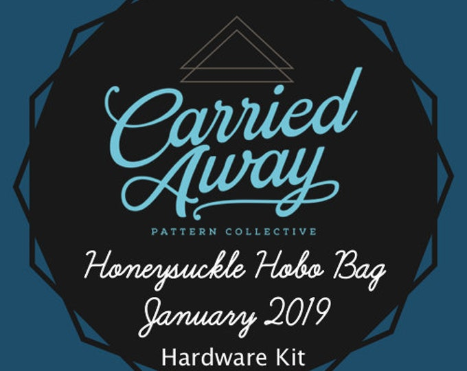 Carried Away Pattern Collective - Honeysuckle Hobo Bag - January 2019 Hardware Kit - Swoon Patterns - Blue Calla Patterns