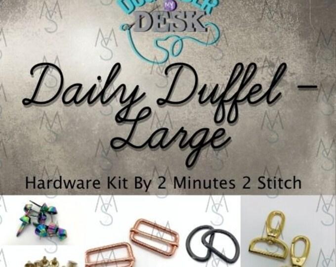 Daily Duffel Large Size - Dog Under My Desk Hardware Kit