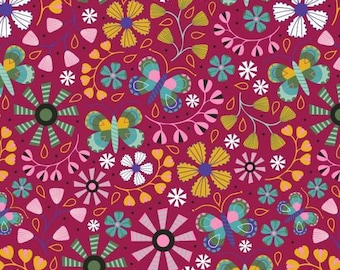 Daydream by Blank Quilting - Floral Allover Wine - Cotton Woven Fabric