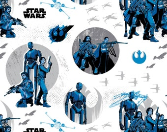 Star Wars Rogue One Collection by Camelot - White Star Wars Rebels - Cotton Woven Fabric