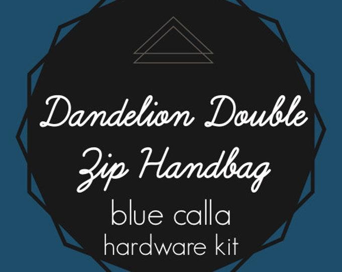 Dandelion Double Zip Handbag - Blue Calla Hardware Kit - Swivel Clips, D-Rings