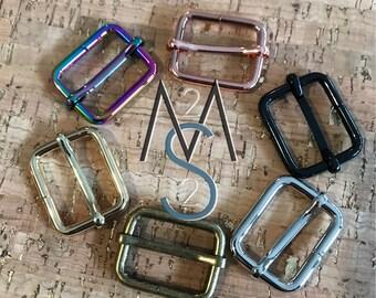 Strap Slide - Tri Glide - Adjustable Strap Slide - 1-Inch Wide - Rainbow, Black, Rose Gold, Gold