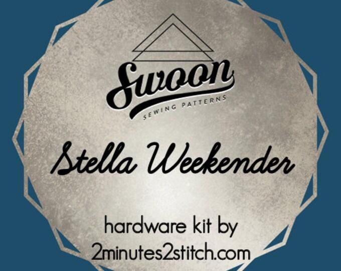 Stella Weekender - Swoon Patterns - Hardware Kit by 2 Minutes 2 Stitch