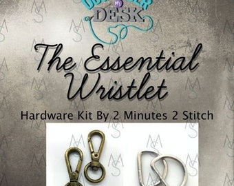 The Essential Wristlet - Dog Under My Desk - Hardware Kit