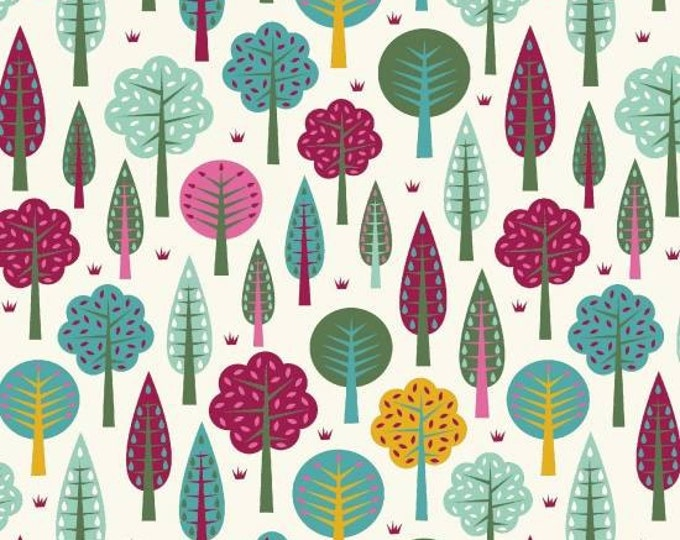 Daydream by Blank Quilting - Trees White - Cotton Woven Fabric