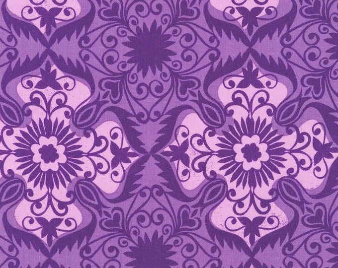Jasmine by Valori Wells for Robert Kaufman - Grape Damask - Cotton Woven Fabric