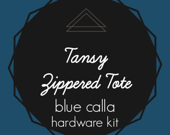 Tansy Zippered Tote - Blue Calla Hardware Kit - Swivel Clips, D-Rings