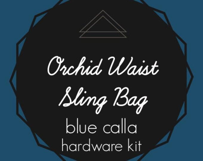 Orchid Waist Sling Bag - Blue Calla Hardware Kit - Swivel Clips, D-Rings