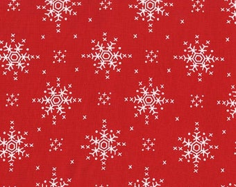 Woodland Winter by Michael Miller - Stitch Snowflake Santa - Cotton Woven Fabric