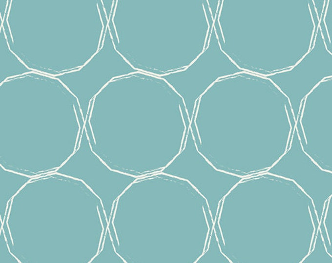Essentials II by Pat Bravo for Art Gallery Fabrics - Hula Hoops Azur - Cotton Woven Fabric