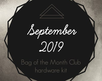 Flora Wristlet Crossbody Bag - Bag of the Month Club - September 2019 Hardware Kit - Janelle MacKay of Emmaline Bags