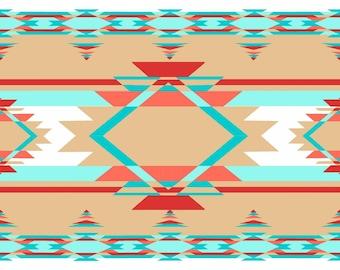 Kohana by 3 Wishes - Tan Blanket Stripe - Cotton Woven Fabric