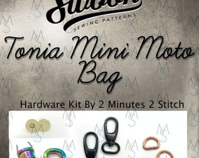 Tonia Mini Moto Bag - Swoon Patterns - Hardware Kit Only - Bag Hardware - Tonia Bag Hardware - Bag Making Supplies