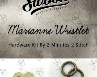 Marianne Wristlet - Swoon Patterns - Hardware Kit by 2 Minutes 2 Stitch