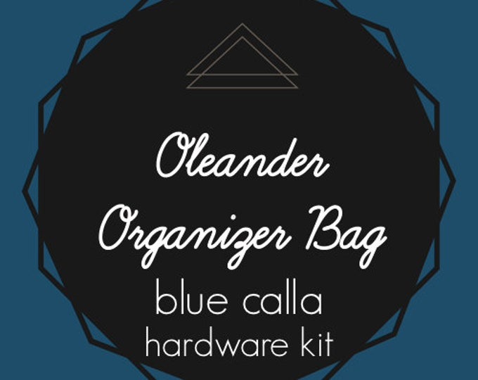 Oleander Organizer Bag - Blue Calla Hardware Kit - Swivel Clips, D-Rings