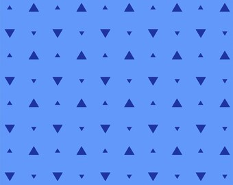 Elements by Windham - Cobalt Optic Triangle - Cotton Woven Fabric