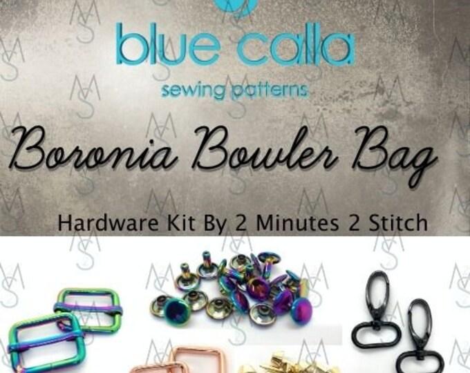 Boronia Bowler Bag - Blue Calla Hardware Kit - Swivel Clips, D-Rings