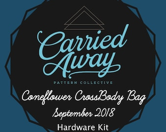 Carried Away Pattern Collective - Coneflower Cross Body Bag - September 2018 Hardware Kit - Swoon Patterns - Blue Calla Patterns