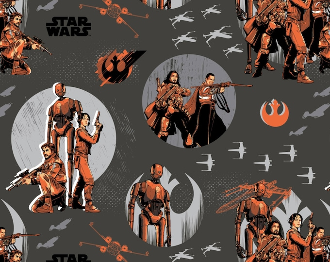 Star Wars Rogue One Collection by Camelot - Carbon Star Wars Rebels - Cotton Woven Fabric